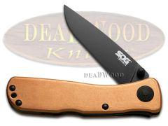 SOG Twitch 2 Lockback Knife Solid Copper AUS-8 Stainless TWI301-PB Pocket Knives