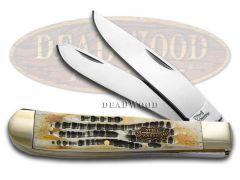 Steel Warrior Trapper Knife Butter Rum Bone Stainless Pocket Knives SW-108BR