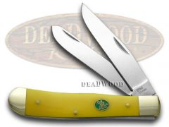 Steel Warrior Trapper Knife Yellow Handle Stainless Pocket Knives SW-108Y