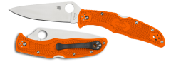 Spyderco Endura 4 Lockback Knife Orange FRN VG-10 Stainless C10FPOR Pocket Clip