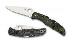 Spyderco Endura 4 Lockback Knife Zome Green FRN VG-10 Stainless C10ZFPGR Pocket