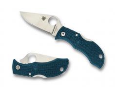Spyderco Manbug Lockback Knife Blue FRN K390 Microclean Carbon Steel MFPK390